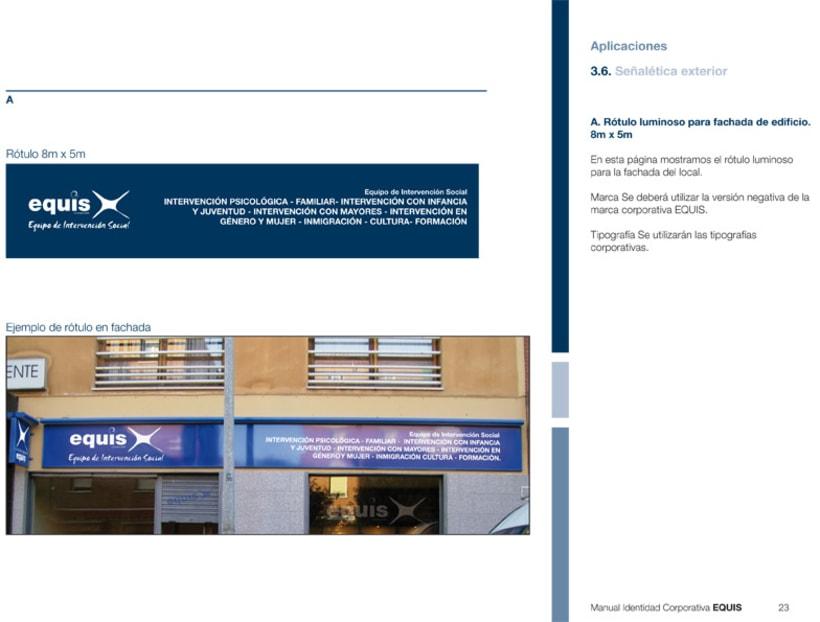 Manual Corporativo (Manual de Identidad Corporativa De EQUIS Equipo de Intervención Social 6