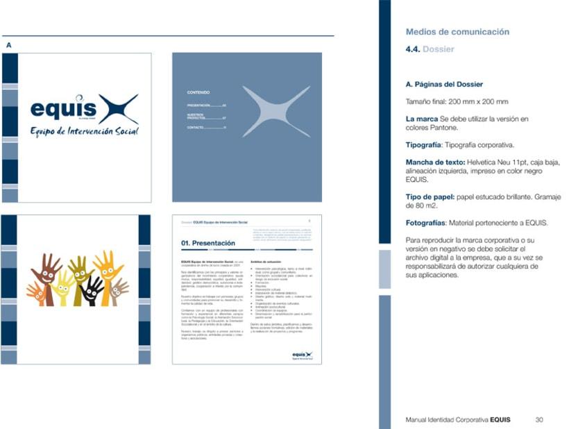 Manual Corporativo (Manual de Identidad Corporativa De EQUIS Equipo de Intervención Social 3