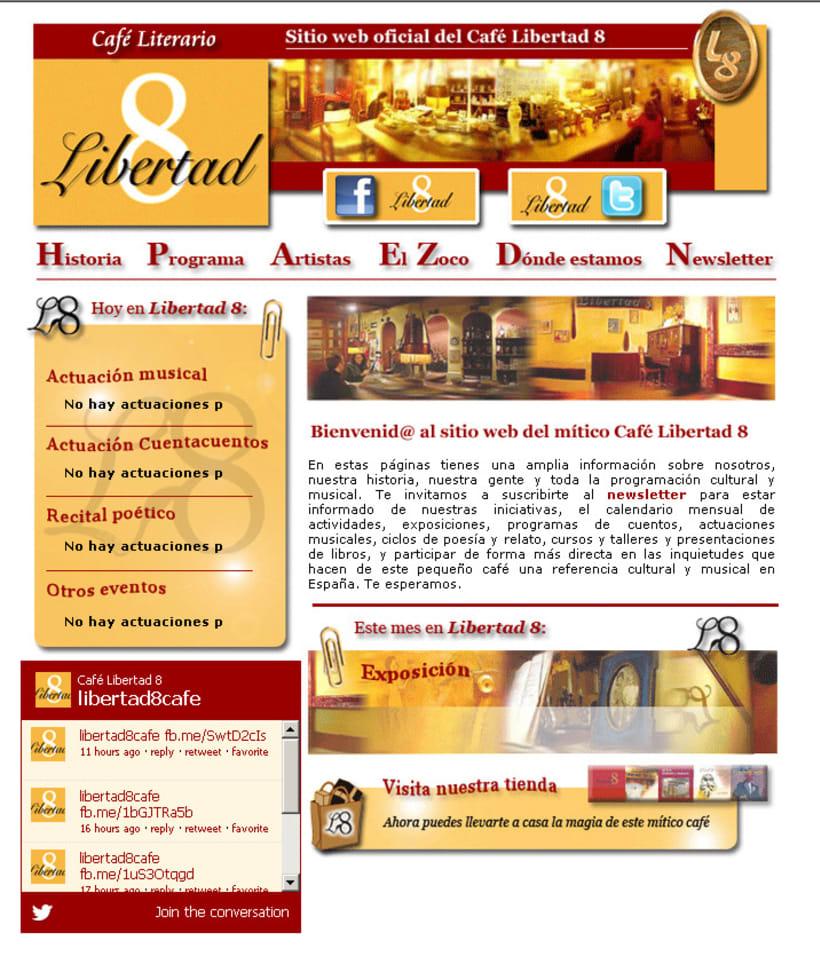 Website (Diseño gráfico) del Café Libertad 8 2