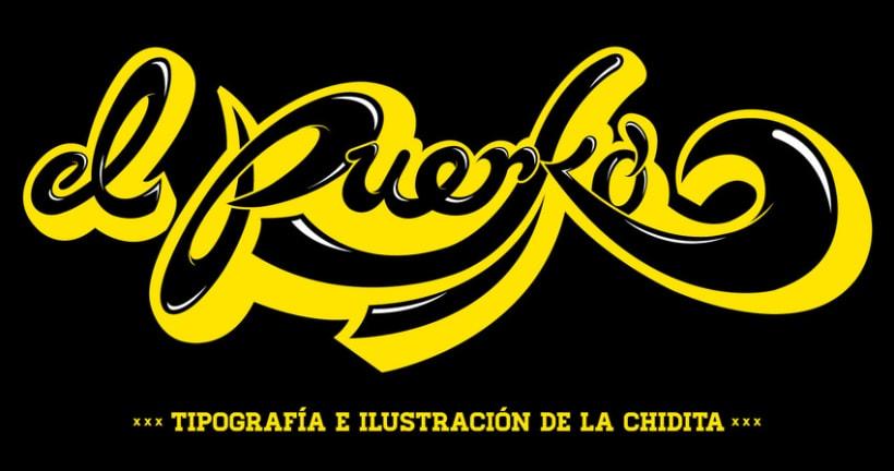 el Puerko, tipografía e ilustración de la chidita 1