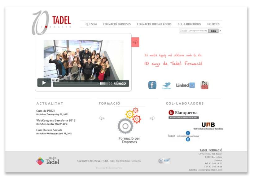 Propuesta Re-diseño Web Tadel Formació 2