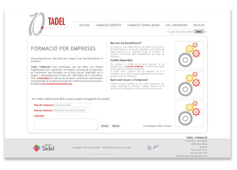 Propuesta Re-diseño Web Tadel Formació 3