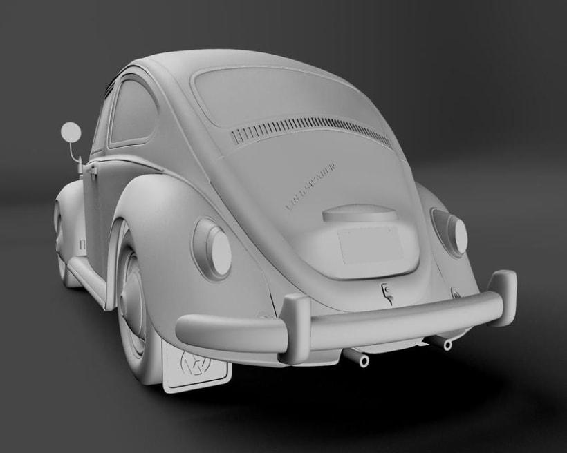 Modelando el Escarabajo de mis Fantasías 4