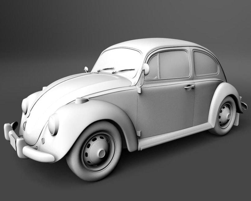 Modelando el Escarabajo de mis Fantasías 3