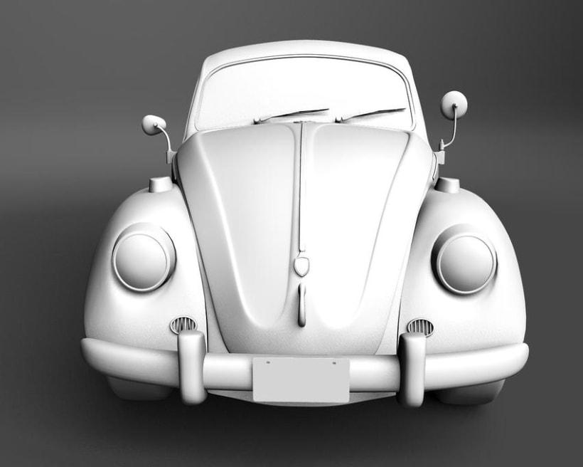 Modelando el Escarabajo de mis Fantasías 2