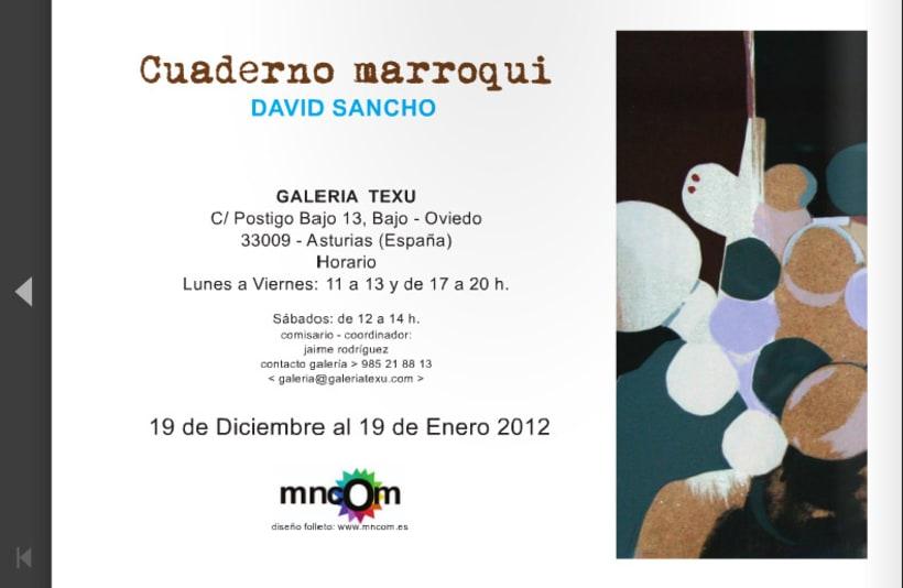 Diptico exposicion de pintura David Sancho 4