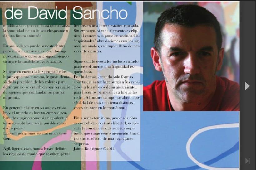 Diptico exposicion de pintura David Sancho 1