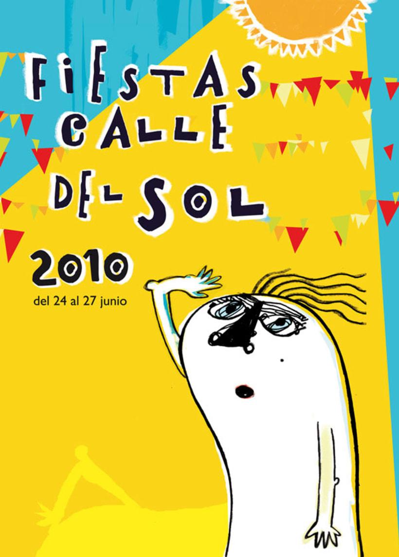 Cartel Fiesta Calle del Sol 1