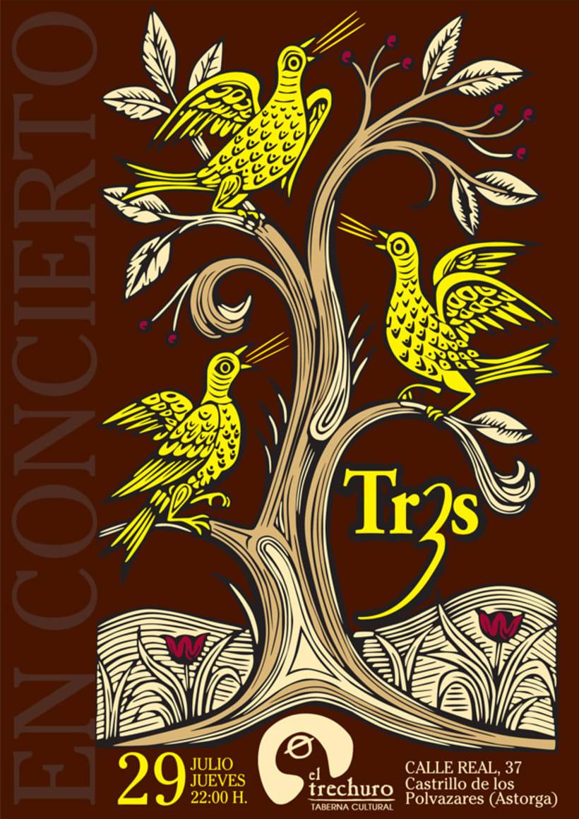 Cartel concierto Tr3s 1