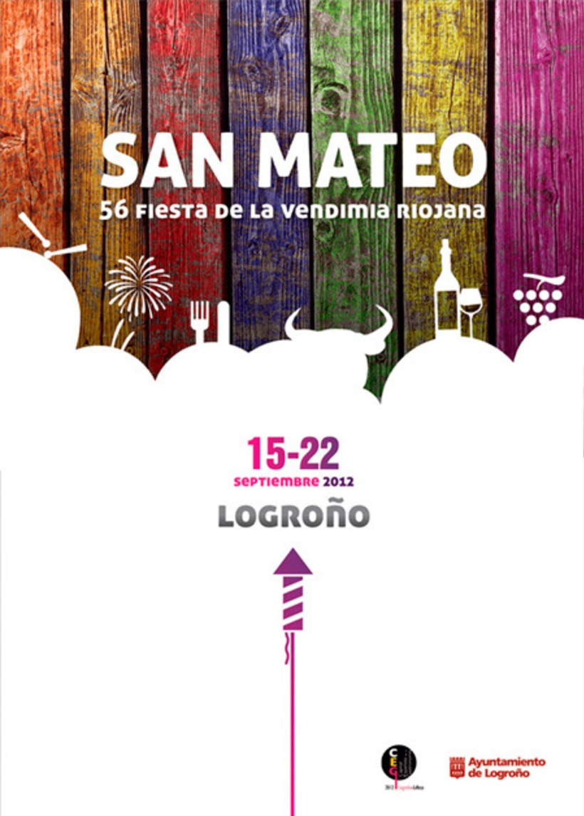 Cartel finalista Fiestas de la Vendimia Riojana 2012 1
