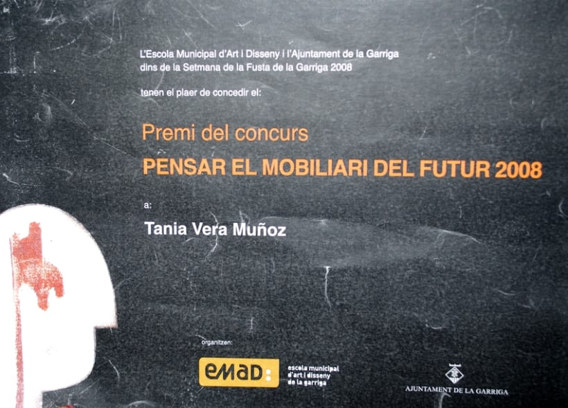 "Premio ""Pensar el mobiliario del futuro 2008""/Award ""think the furniture of the future 2008"" 1"