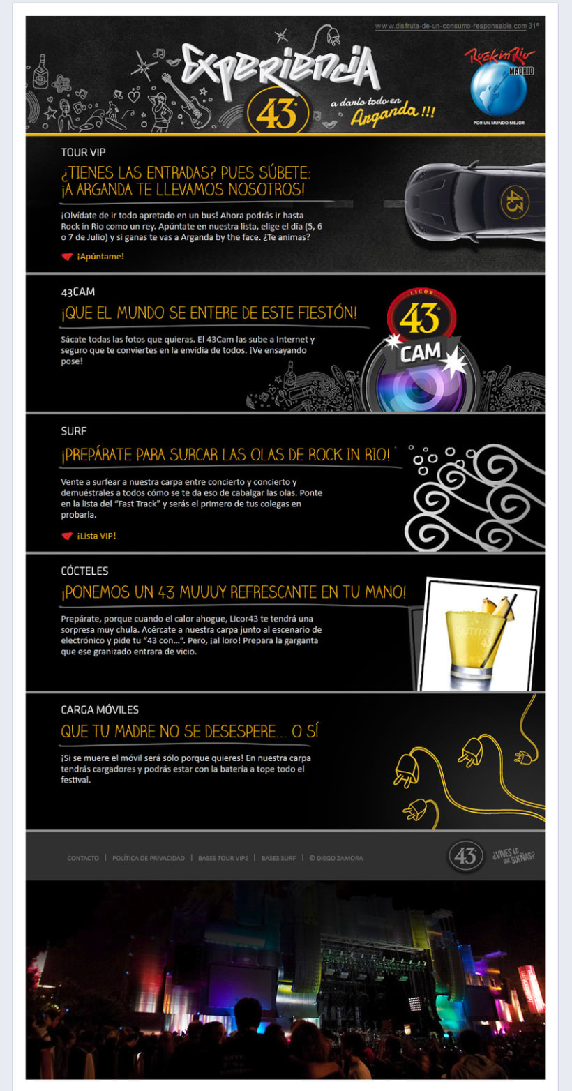 Licor 43: Rock in Rio 1