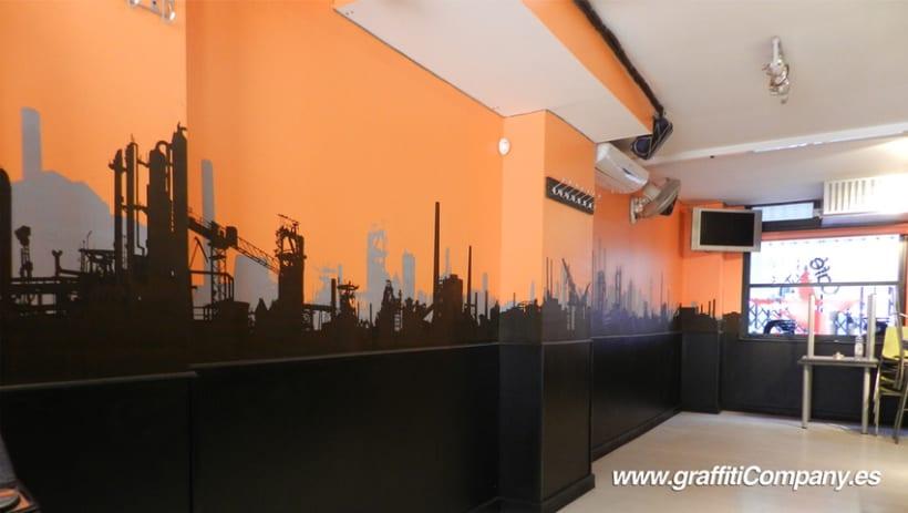 Mural en el Café Clandestino 4