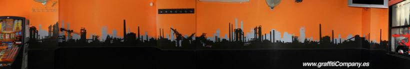 Mural en el Café Clandestino 3