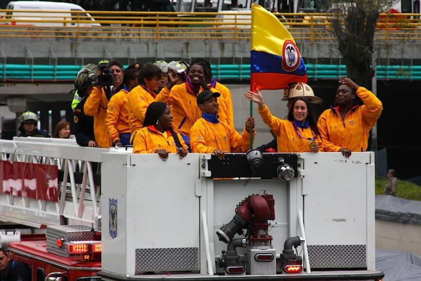 Multitudinario recibimiento a los medallistas en Bogotá DC 1