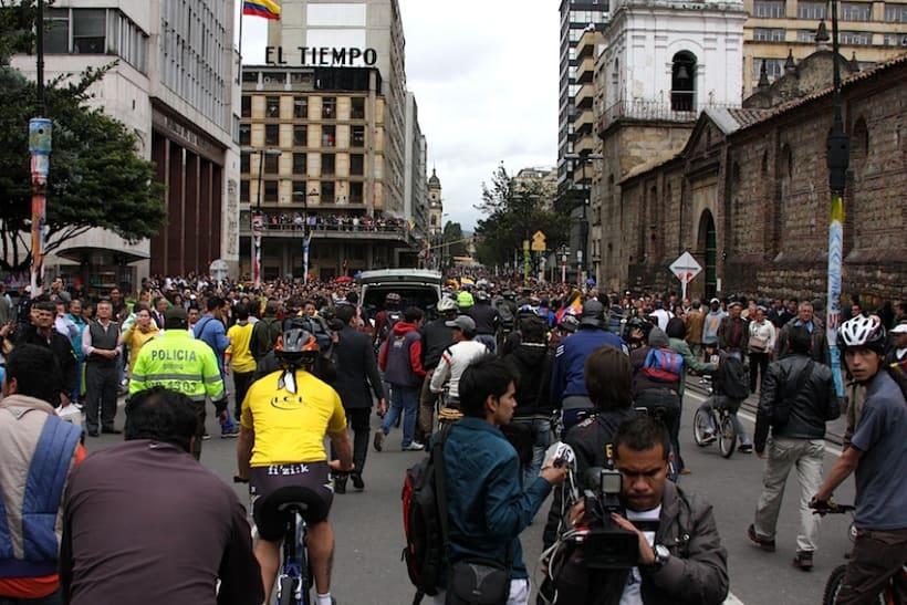 Multitudinario recibimiento a los medallistas en Bogotá DC 9