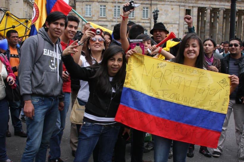 Multitudinario recibimiento a los medallistas en Bogotá DC 5
