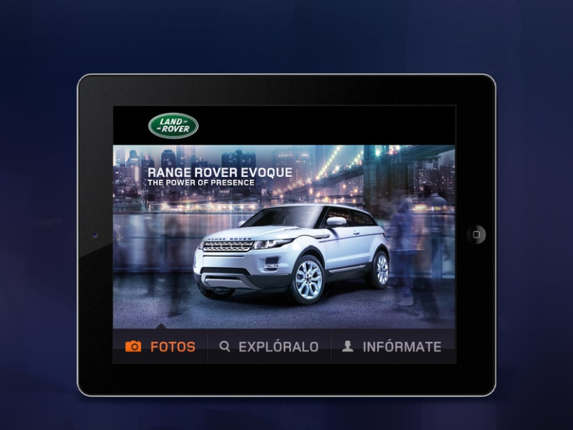RR Evoque mobile web 3
