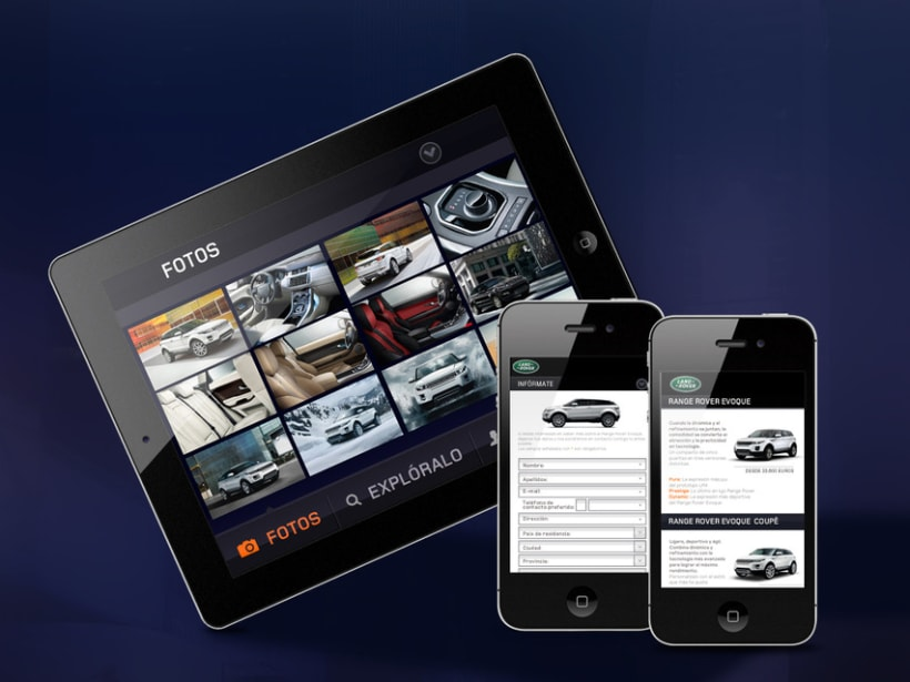 RR Evoque mobile web 4
