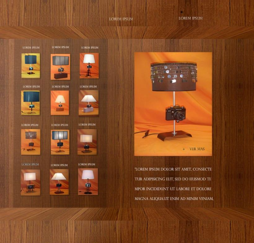 Proyecto Web Promocional Colección Lamparas Exclusivas 1