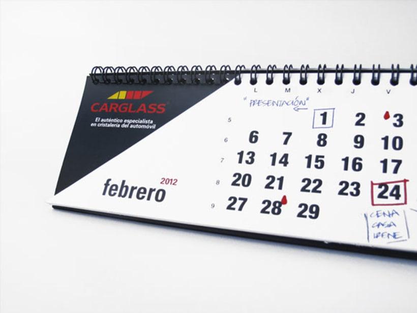 Calendario de oficina CARGLASS 3