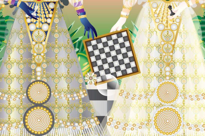Ajedrez: Dama blanca y dama negra 5