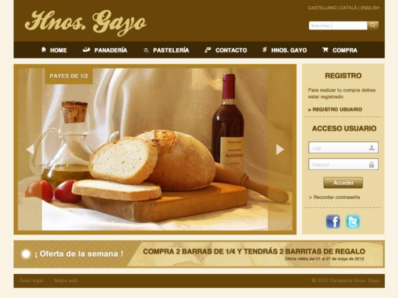 Web Panadería Hnos. Gayo 2