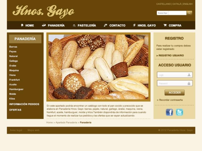 Web Panadería Hnos. Gayo 3