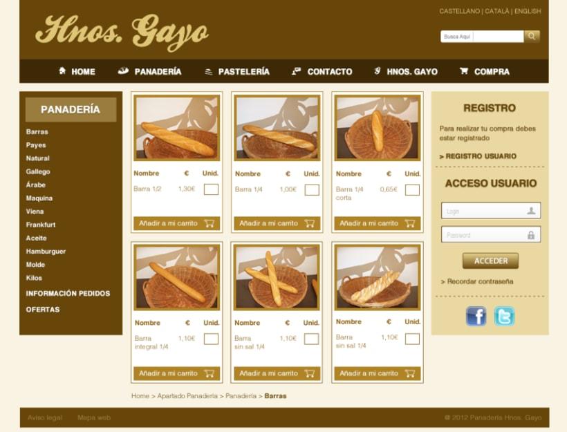 Web Panadería Hnos. Gayo 4