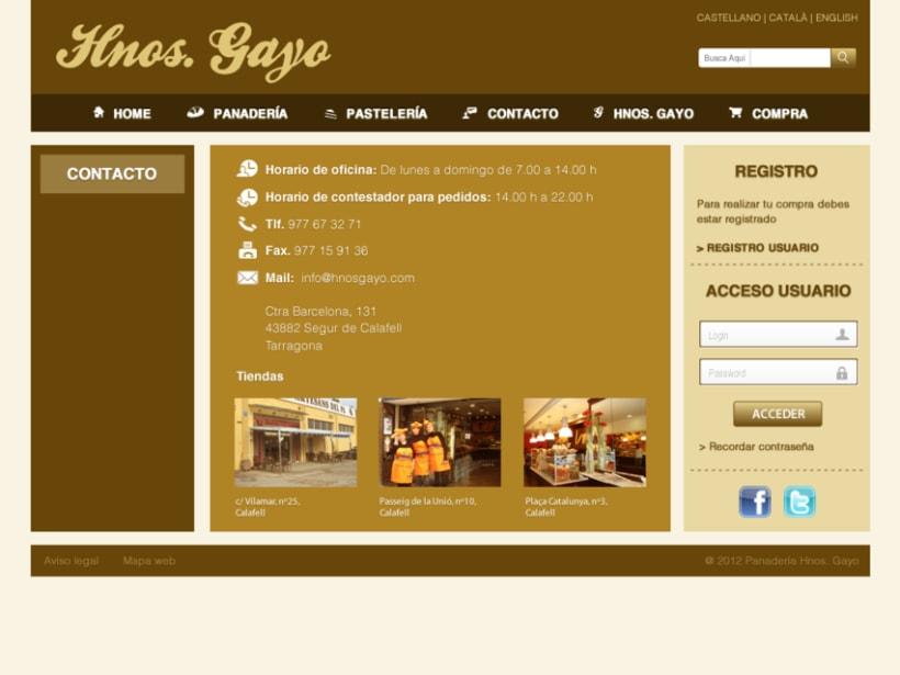 Web Panadería Hnos. Gayo 5