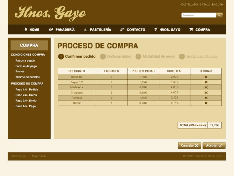 Web Panadería Hnos. Gayo 6