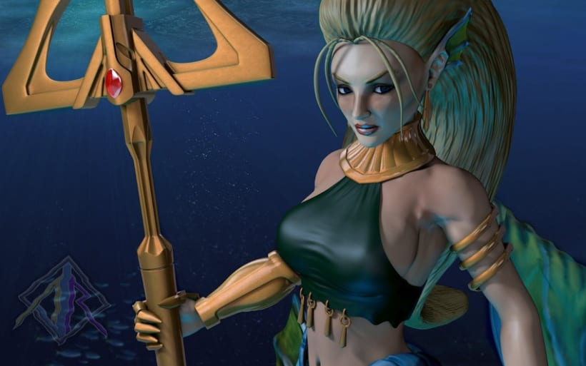 Sirena, personaje 3D 3