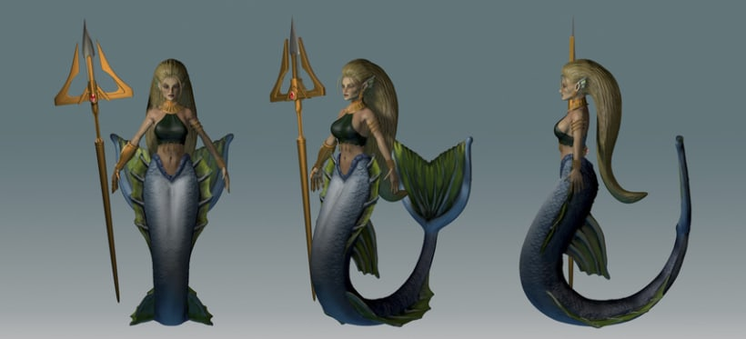 Sirena, personaje 3D 4