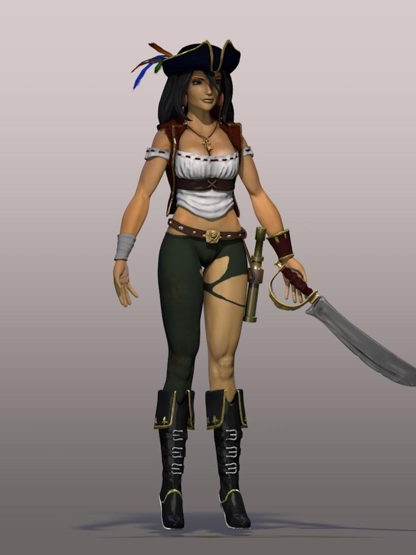 Pirata, personaje 3D 2
