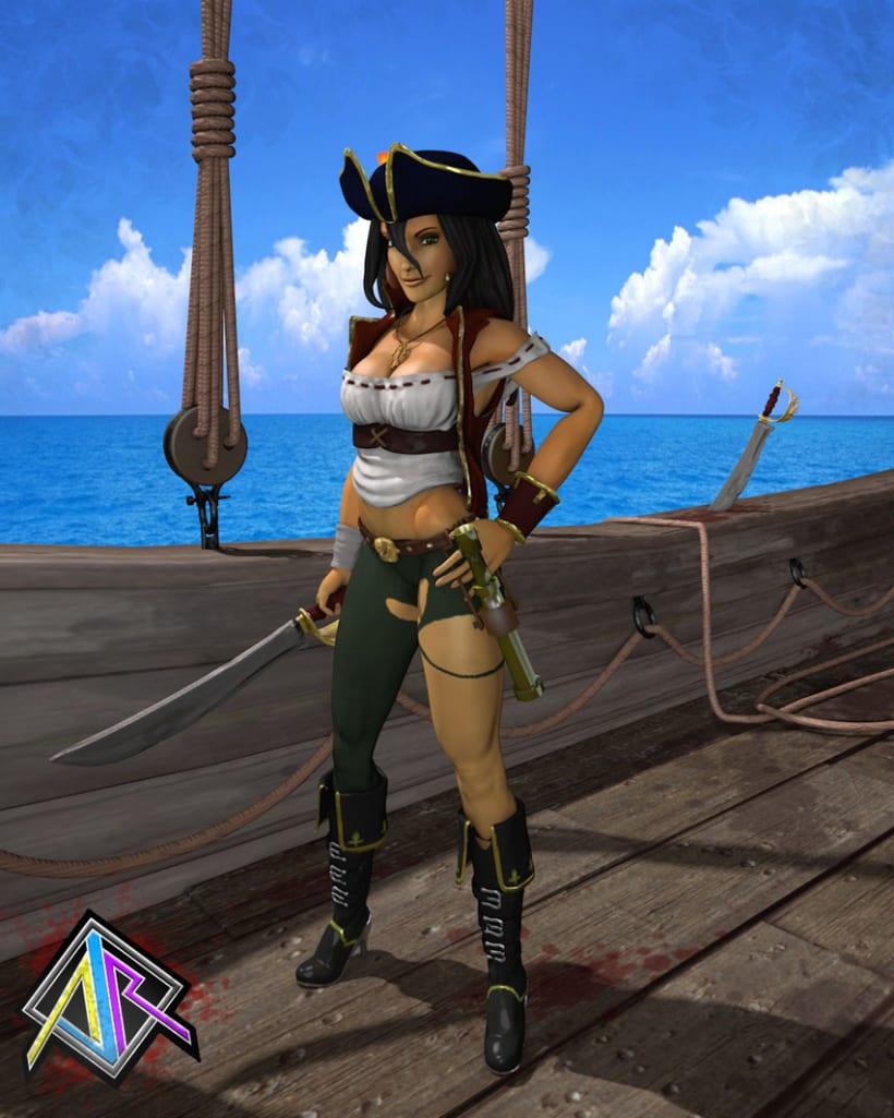 Pirata, personaje 3D 4