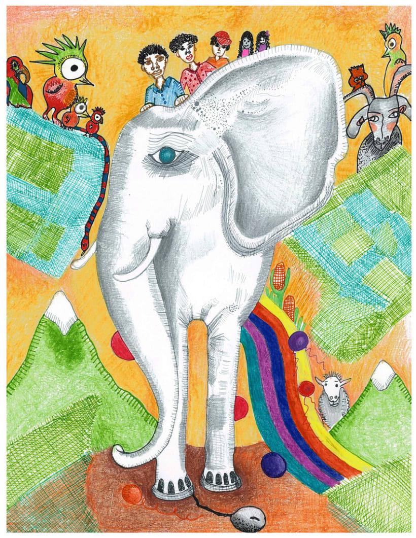 Portada cuento el elefante blanco 1