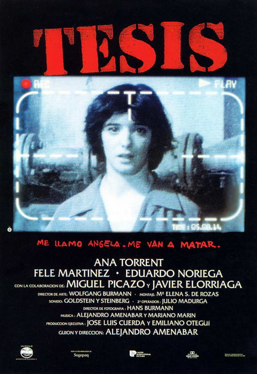 Cartel película TESIS 1