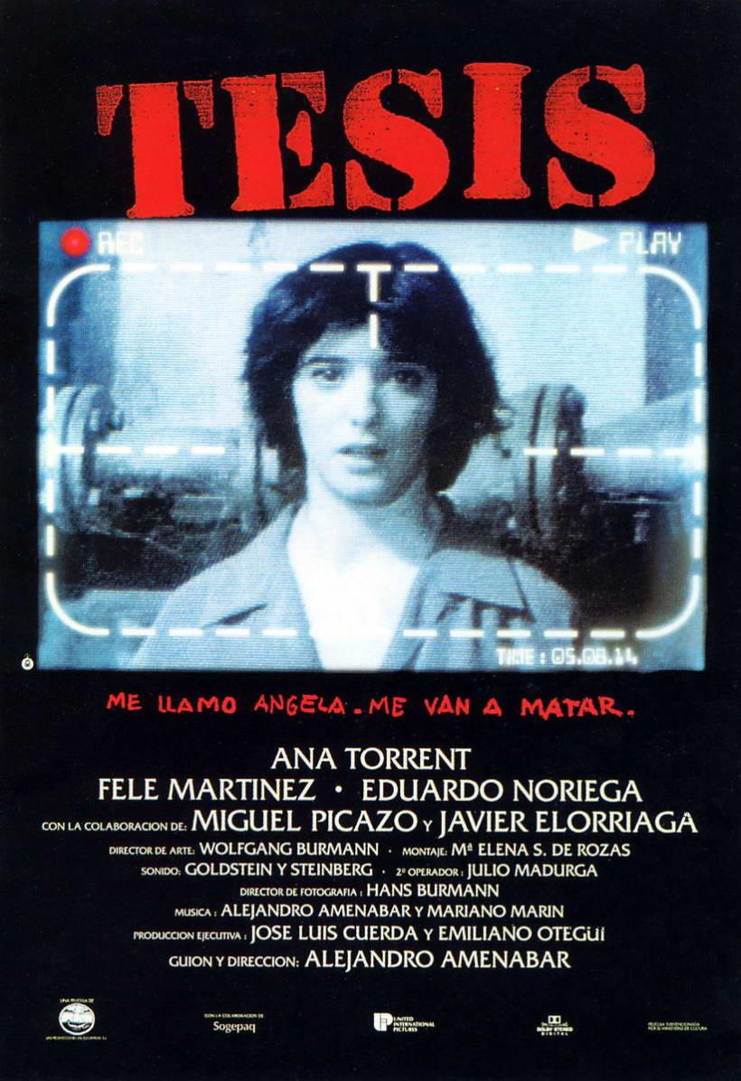 Cartel película TESIS 2