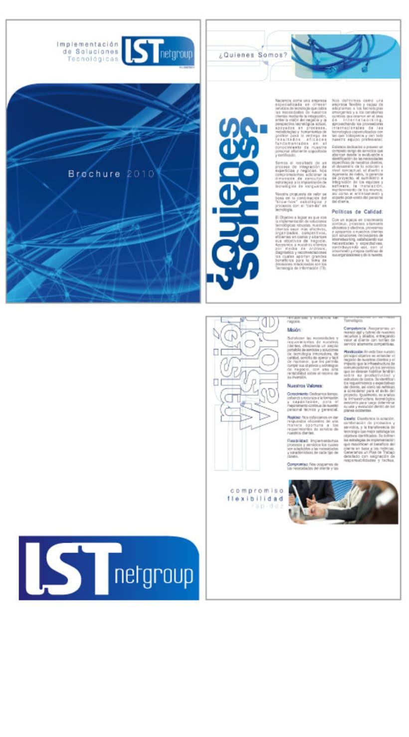logotipo y broshure para IST netgroup 1