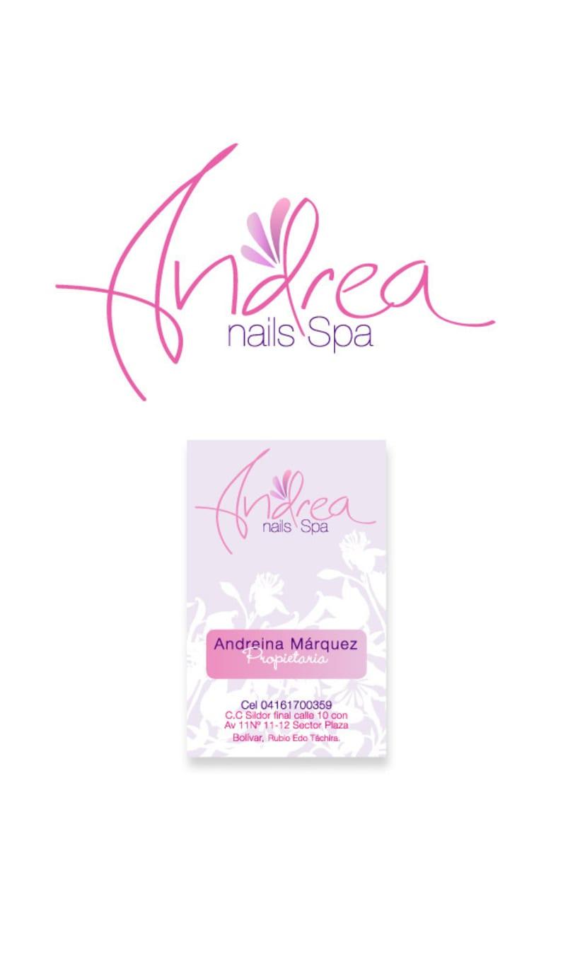 Andrea Nails logotipo y tarjetas de visita  1