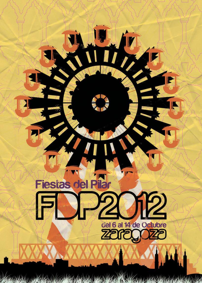 Cartel de las Fiestas del Pilar 2012 2