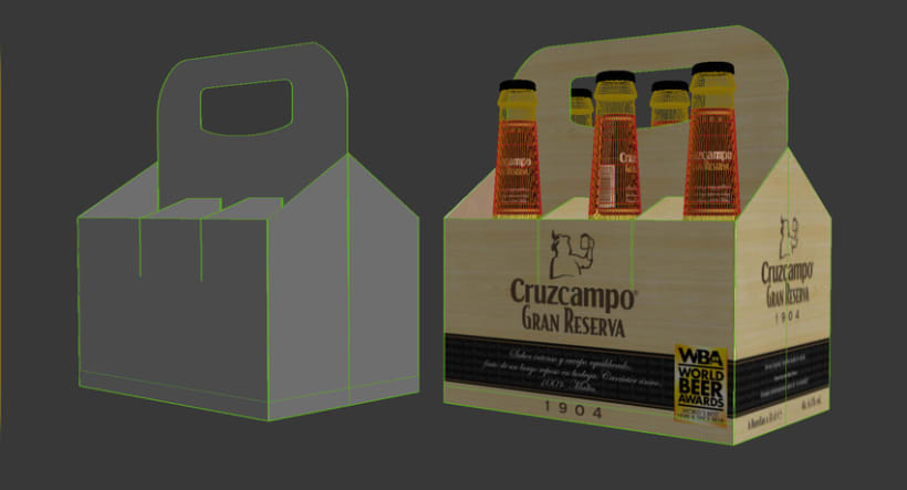 Cruzcampo 3D Packaging 3
