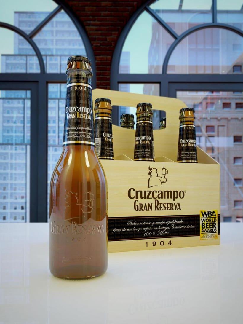 3D Advertising Cruzcampo 1