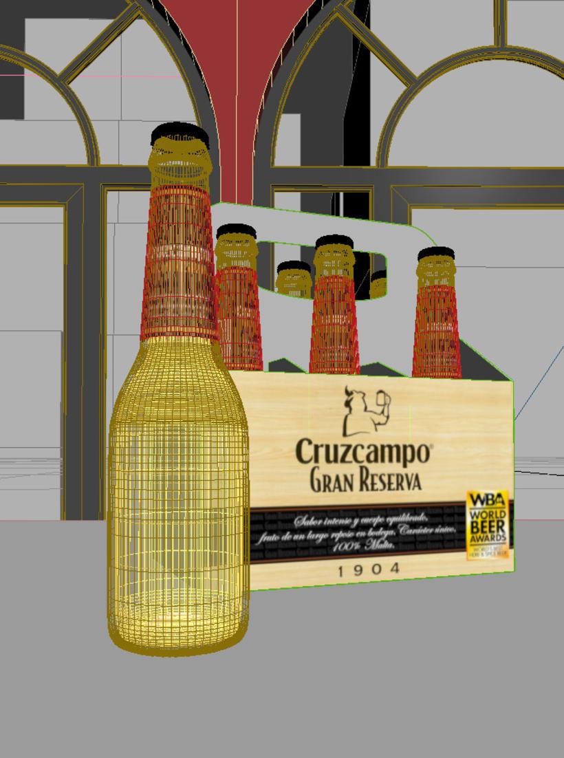 3D Advertising Cruzcampo 2