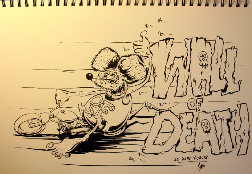 """Ed Roth Tribute """"WalL of DeatH"""" 1"""