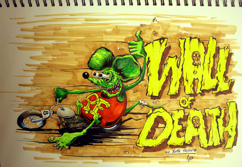 """Ed Roth Tribute """"WalL of DeatH"""" 2"""