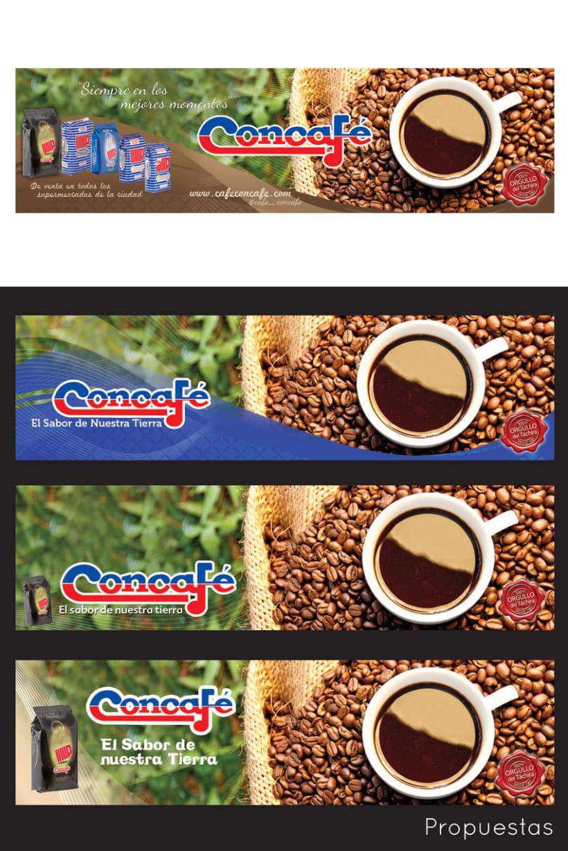 Valla publicitaria para Concafé 1
