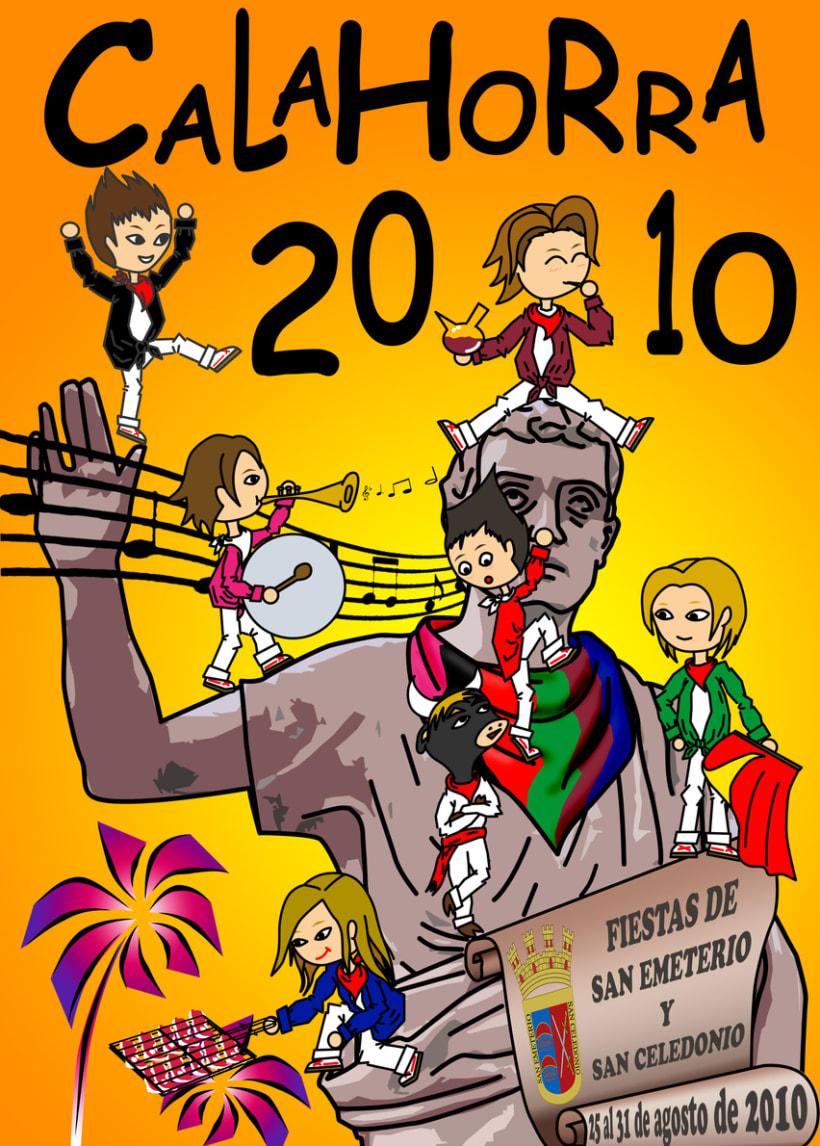 Cartel Fiestas Calahorra 2010 1