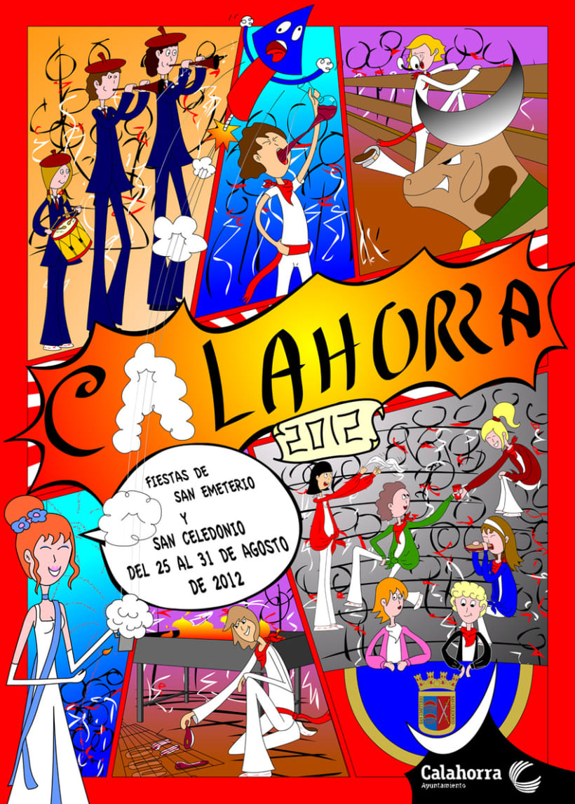 Cartel Fiestas Calahorra 2012 1