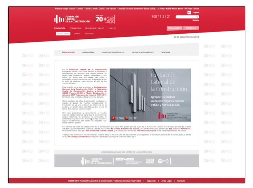 Fundación Laboral de la Construcción (Web) 2